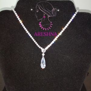 Areshna Jewelry - Queen Swarovski Crystals Luxury Bridal Jewelry Set